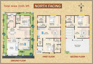 north facing house vastu plan model floor plans